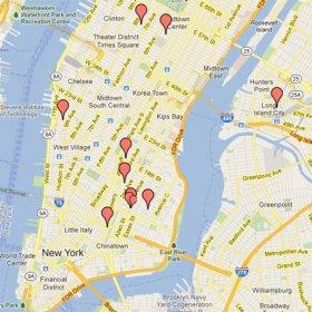 Nojatuoli Sohvat Tuolit New Yorkin Nahtavyydet Kartalla